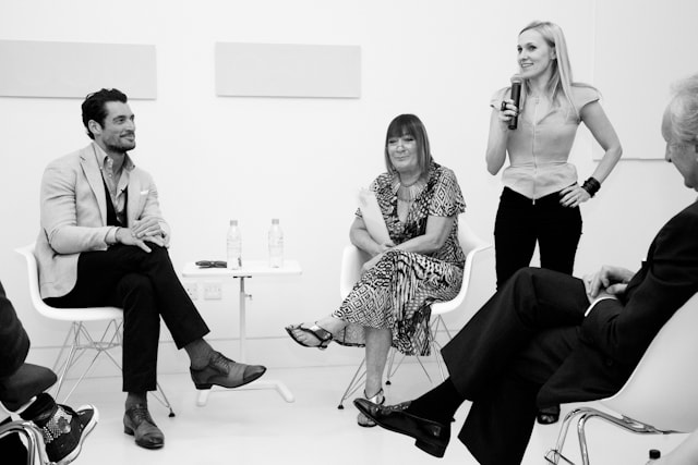 David Gandy, Hilary Alexander, Courtney Blackman and Harold Tillman at The Industry
