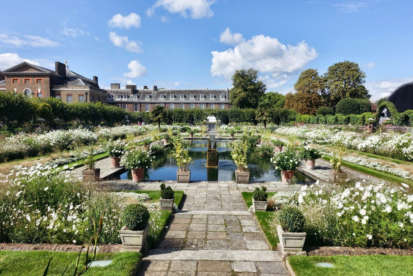 Sunken garden at Kensington Palace Gardens