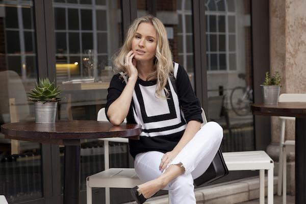 Tess in DONNA IDA Jumper & J Brand Jeans