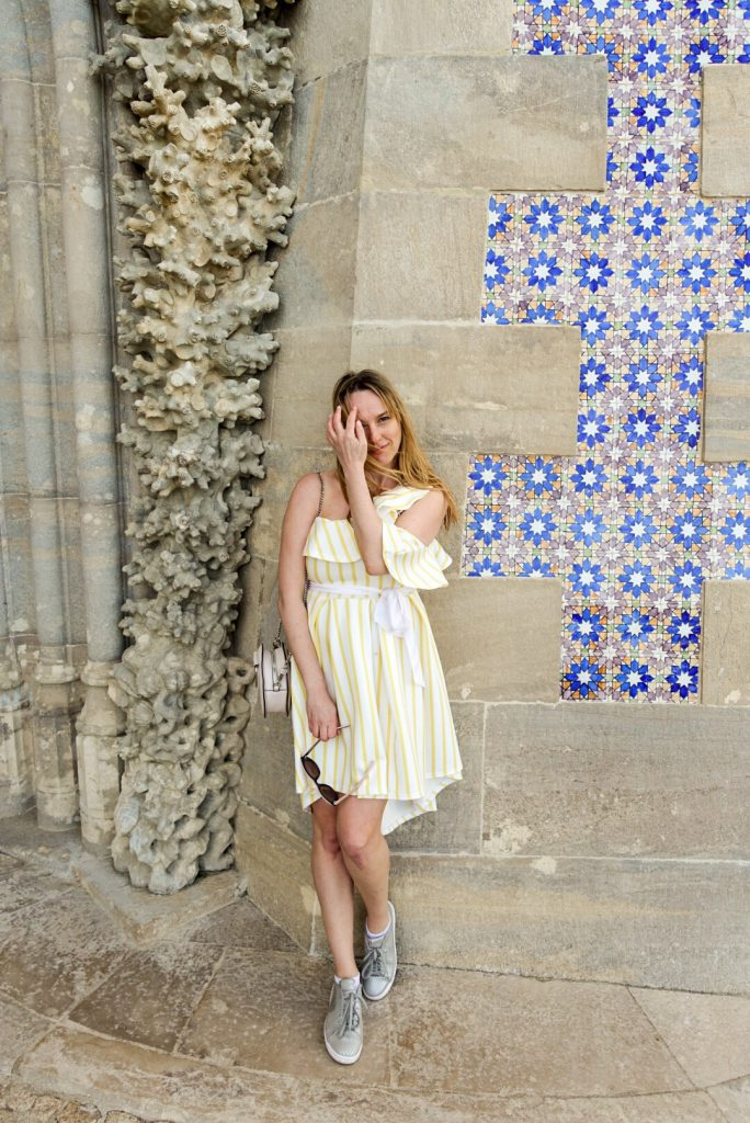 NakedPR Girl, Pena Palace, Sintra, Portugal